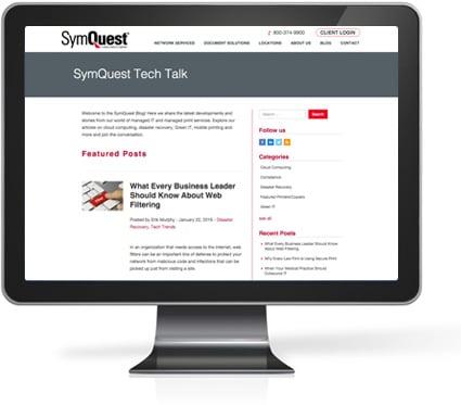 Subscribe to SymQuest's TechTalk Blog